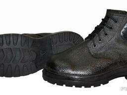 Ботинки юфть/кирза (клеепрошивные, МБС)