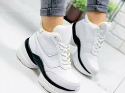 Ботинки женские демисезонные Wight белые 9449