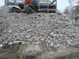 Бой бетона, дробленный бетон, доставка Ирпень, район