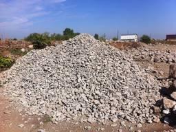 Бой бетона. Дробленный бетон фракции 0*80 - 0*120 доставка 30тонн