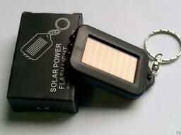 Брелок з ліхтариком на сонячній батареї Solar Powered Flesh