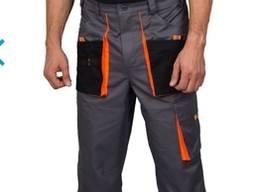 Бриджи 'Феникс', Цвет серо-черный с оранжевой отделкой. Ткань верха:Саржа 240 г/м. кв