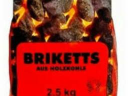 Угли для гриля 2, 5 кг (европодушка)