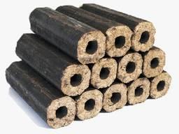 Древесное топливо для котлов каминов печей брикет пини кей.