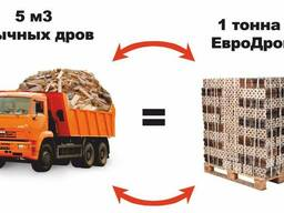 Брикеты топливные PiniKay (EcoBonfire) евро дрова - фото 2