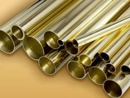Труба латунная ф4 - 120 мм латунь ЛС59-1, Л63, Л68, Л80,