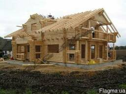 Брус ровный и D-образный для строительства деревянных домов