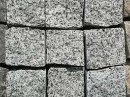 Брусчатка гранитная колотая (серая покостовская)10х10х5