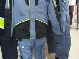 Брюки рабочий Грей, с анатомическими коленями, ткань саржа