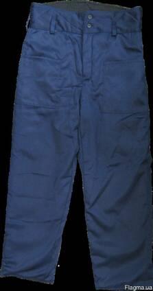 Брюки ватные рабочие, ткань грета, утепленные, зимние, мужские
