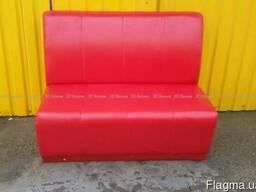 Бу диванчики красные 2шт для кафе, кофейни, пиццерии, бара