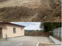 Будівництво площадок, майданчиків, під'їзних доріг