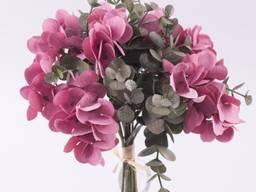 Букет гортензия и эвкалипт 24 см Цветы искусствен