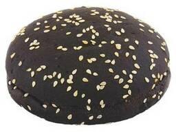 Булочка для гамбургера черная с кунжутом 70г