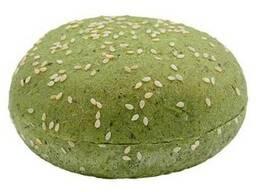Булочка для гамбургера шпинатная с кунжутом 50г