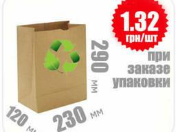 Бумажный крафт пакет 290х230х120