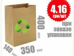 Бумажный крафт пакет 400х350х140