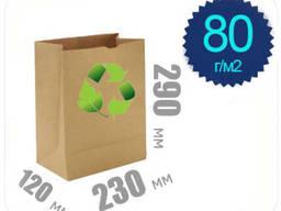 Бумажный крафт пакет 80 г/м2 290х230х120 (Mondi)