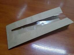 Бумажные пакеты для продуктов питания, с окошком