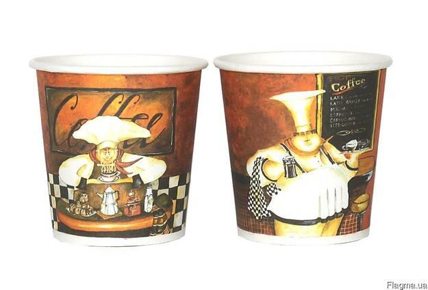 Бумажные стаканчики с рисунком бариста
