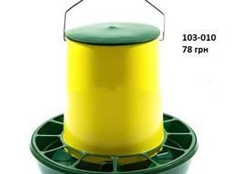 Бункерная кормушка на 6, 2 л / 4, 4 кг с ручкой жел-зел.