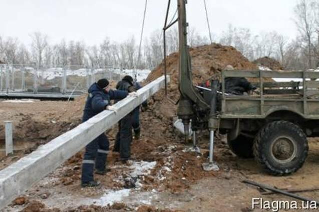 Бурение и монтаж опор ЛЭП в Киеве и Киевской области