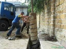 Бурение ям под сваи, подпорные стенки и дренажные шурфы