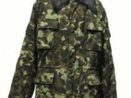 Бушлат армейский, куртка ватная с меховым воротником
