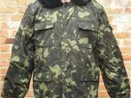 Бушлат армейский, военный, камуфлированный. Куртка.