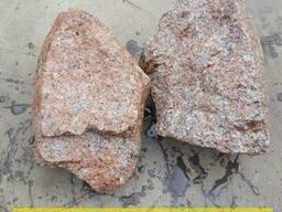 Бутовый камень серый и красный