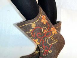 Buty wykonane z wełny