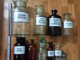 Бутыль склянка емкость штангласс стеклянныйс крышкой пробкой