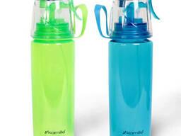 Бутылка спортивная для воды пластиковая 570 мл