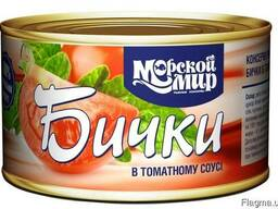 Бычки обжаренные в томатном соусе, 240 гр. ГОСТ 16978-89