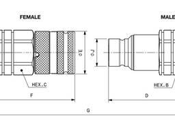 Быстроразъемное соединение F A13 5/8 SAE / SKM 16 IJ 3 FS