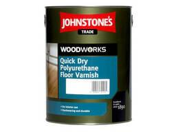 """Быстросохнущий лак для пола """"Johnstone'S"""" Quick Dry Polyurethane Floor Varnish. .."""