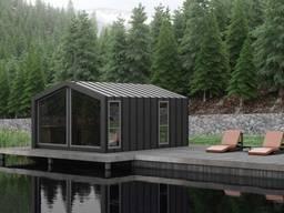 Быстровозводимый дом. Рыбацкий домик. Модульные дома. Садовые дома под ключ