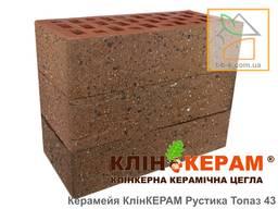 Цегла лицьова клінкерна Керамейя КлінКЕРАМ РУСТИКА Топаз-43 М350