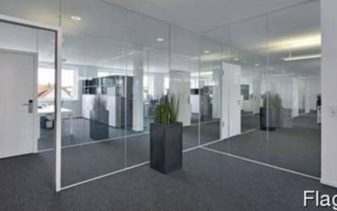 Цельностеклянные офисные перегородки