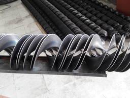 Цельнотянутая шнековая спираль, сегменты шнековой спирали