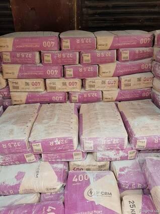 Цемент М-400 заводская упаковка точный вес 25кг.