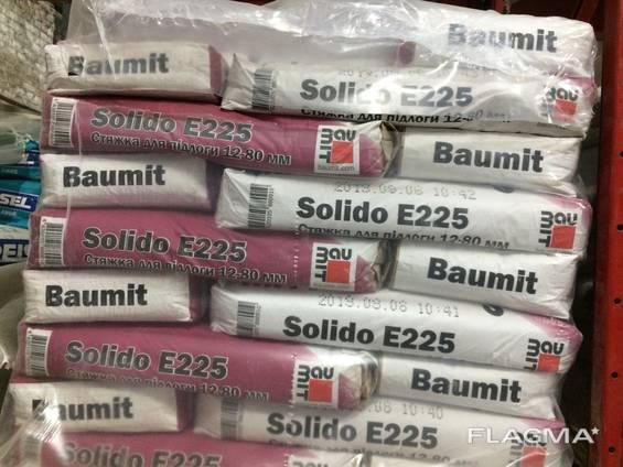 Цементно-песчаная стяжка Baumit Solido E225 (12-80 мм) 25кг
