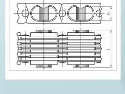 Двухпоточный конвейер цепь для транспортера скребкового купить