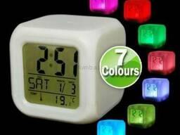 Часы-будильник Хамелеон Led Color Change - настольные часы