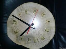 Часы из спила липы