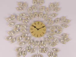 Часы металлические с стразами золото D-59