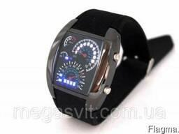Часы наручные белые (Led Watch Sport Car)