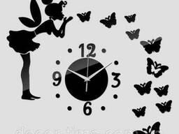 Часы настенные №1 (Черные) 090