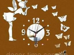 Часы настенные №1 (Серебристые) 091
