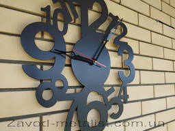Часы настенные металлические Модерн
